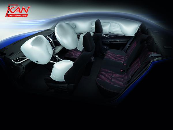 7-AIRBAGS-copy รีวิว Yaris ATIV Eco Car น้องใหม่ Option จัดเต็ม